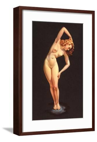 Nude Doing Calisthenics--Framed Art Print
