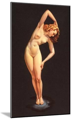 Nude Doing Calisthenics--Mounted Art Print