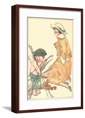 Cherub as Caddy--Framed Art Print