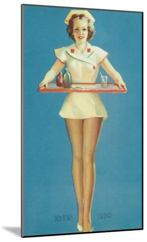 Doctor's Orders, Nurse with Tray--Mounted Art Print