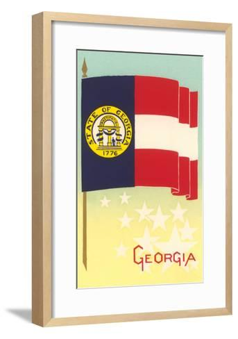 Flag of Georgia--Framed Art Print