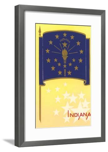 Flag of Indiana--Framed Art Print