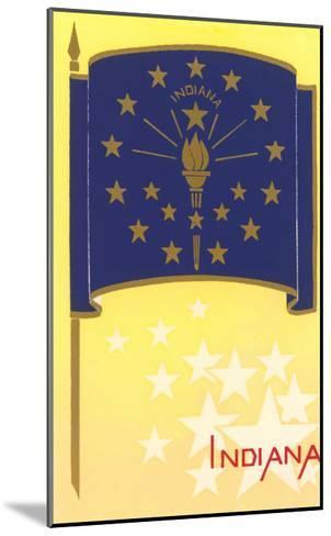 Flag of Indiana--Mounted Art Print