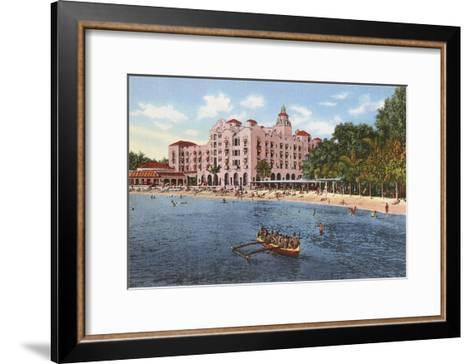 Royal Hawaiian Hotel, Waikiki, Hawaii--Framed Art Print
