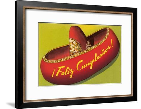 Feliz Cumpleanos on Sombrero--Framed Art Print