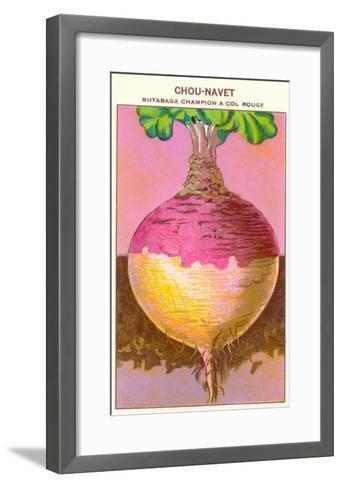French Rutabaga Seed Packet--Framed Art Print