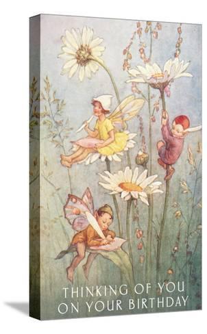 Birthday Fairies--Stretched Canvas Print