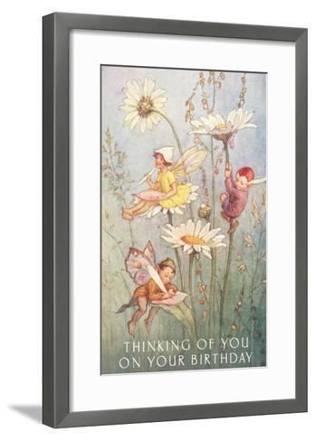 Birthday Fairies--Framed Art Print