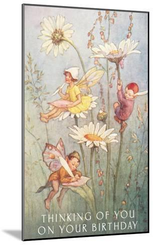 Birthday Fairies--Mounted Art Print