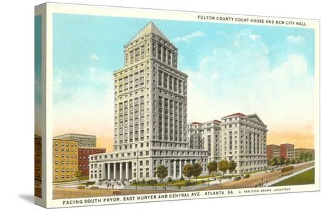 County Courthouse, Atlanta, Georgia--Stretched Canvas Print