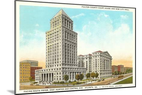 County Courthouse, Atlanta, Georgia--Mounted Art Print