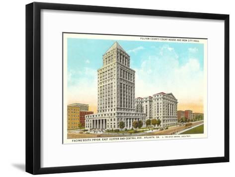 County Courthouse, Atlanta, Georgia--Framed Art Print