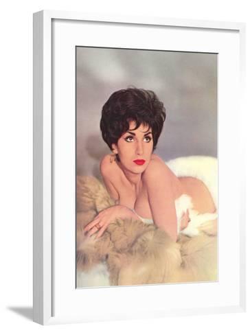 Woman Amid Furs--Framed Art Print