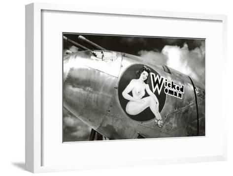 Nose Art, Wicked Woman Pin-Up--Framed Art Print
