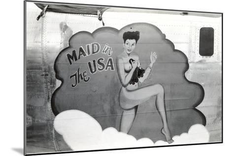 Nose Art, Maid in USA Pin-Up--Mounted Art Print
