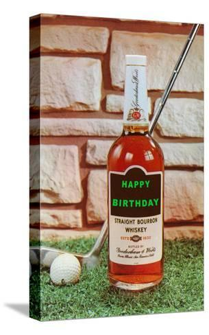Happy Birthday, Whiskey and Golf--Stretched Canvas Print