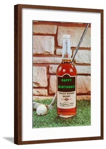 Happy Birthday, Whiskey and Golf--Framed Art Print