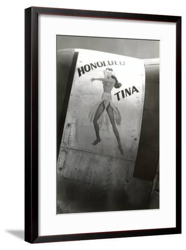 Nose Art, Honolulu Tina Pin-Up--Framed Art Print