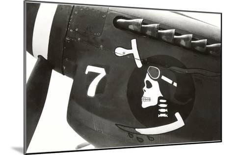 Nose Art, Skull with Goggles--Mounted Art Print