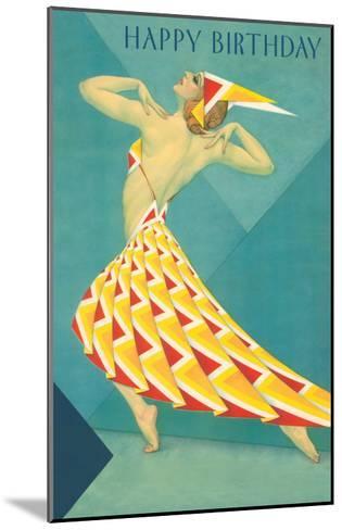 Happy Birthday, Art Deco Dancer--Mounted Art Print