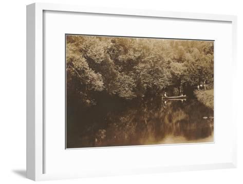 Canoe in Shady Creek--Framed Art Print