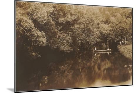 Canoe in Shady Creek--Mounted Art Print