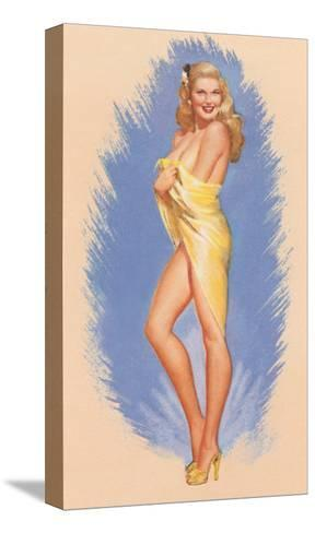Pin-Up Wrapped in Towel--Stretched Canvas Print