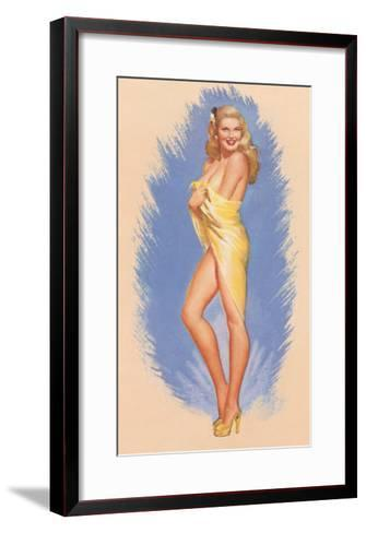 Pin-Up Wrapped in Towel--Framed Art Print