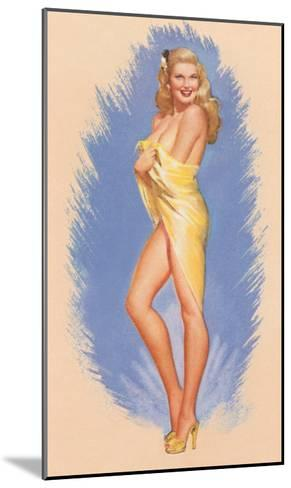 Pin-Up Wrapped in Towel--Mounted Art Print