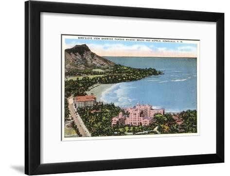Waikiki Beach, Honolulu, Hawaii--Framed Art Print