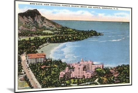 Waikiki Beach, Honolulu, Hawaii--Mounted Art Print