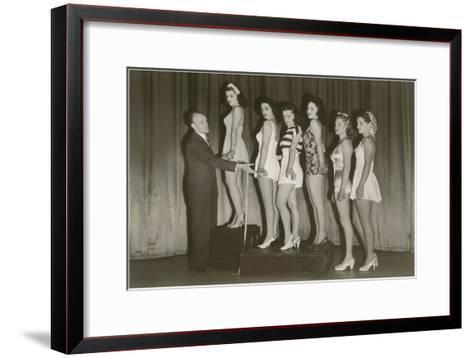 Beauty Pageant Posing--Framed Art Print