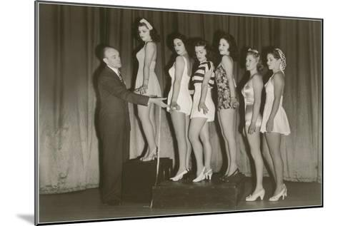 Beauty Pageant Posing--Mounted Art Print