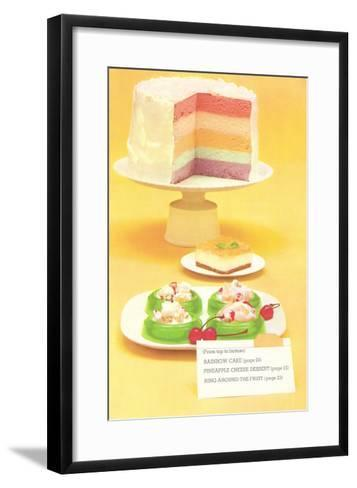 Rainbow Cake, Desserts--Framed Art Print