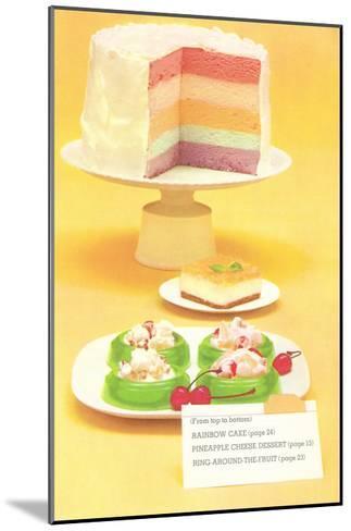 Rainbow Cake, Desserts--Mounted Art Print