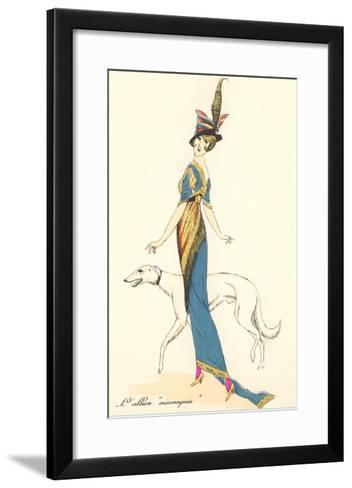 French Fashion, Greyhound--Framed Art Print