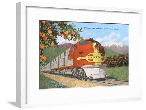 Streamlining through California, Oranges--Framed Art Print
