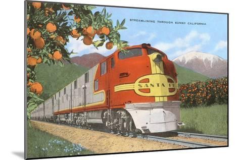Streamlining through California, Oranges--Mounted Art Print