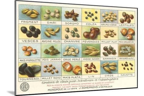 French Grain Chart--Mounted Art Print