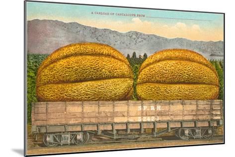 Giant Cantaloupe in Rail Car--Mounted Art Print