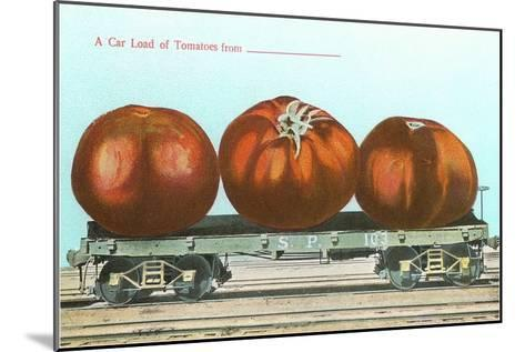 Giant Tomatoes on Flatbed--Mounted Art Print