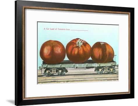 Giant Tomatoes on Flatbed--Framed Art Print