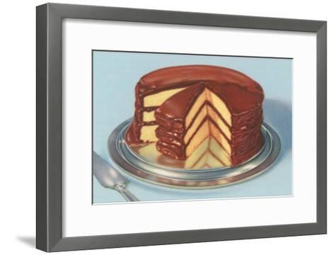 Yellow Cake with Chocolate Frosting, Three Layers--Framed Art Print