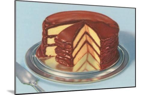 Yellow Cake with Chocolate Frosting, Three Layers--Mounted Art Print