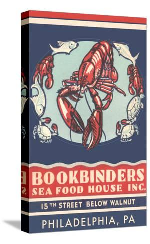 Lobsters Advertisement--Stretched Canvas Print