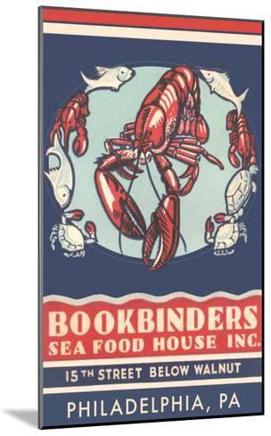 Lobsters Advertisement--Mounted Art Print