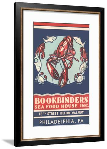 Lobsters Advertisement--Framed Art Print