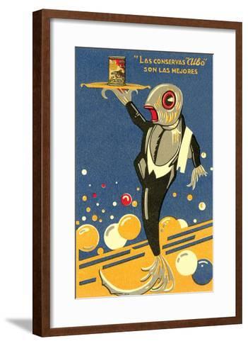 Fish-Waiter Serving Salmon--Framed Art Print