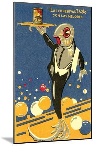 Fish-Waiter Serving Salmon--Mounted Art Print