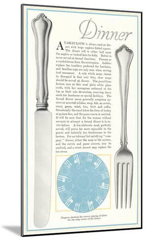 Setting the Table for Dinner--Mounted Art Print